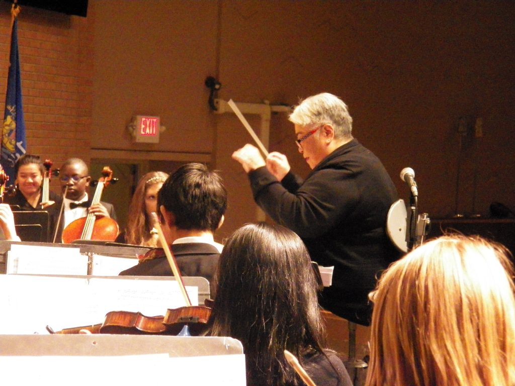 Conductor Geri at concert