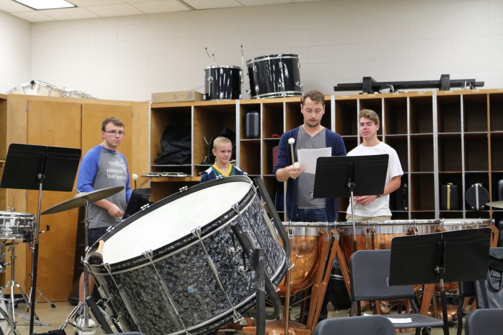 OYS practice with the percussion.